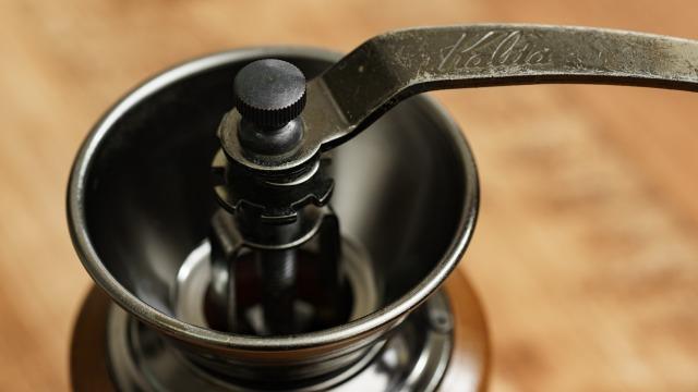 カリタ 手挽きコーヒーミル  KH-3の上部