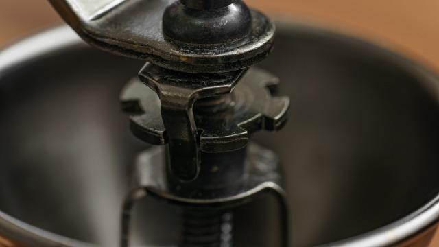 カリタ 手挽きコーヒーミル KH-3の粗さ調整部分