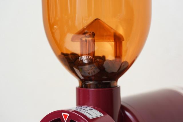 ボンマック コーヒーミル BM-250Nのオレンジのホッパー部分