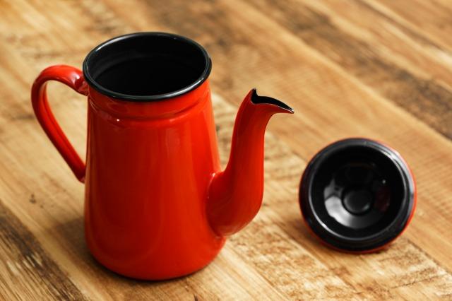 カリタ コーヒー達人・ペリカン 蓋を取った本体と蓋