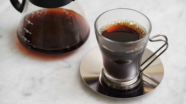 横砂園で買ったマンデリンのコーヒー豆で入れたドリップコーヒー