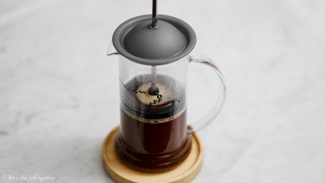 タカムラ コーヒーロースターズのコーヒー豆をフレンチプレスで淹れる