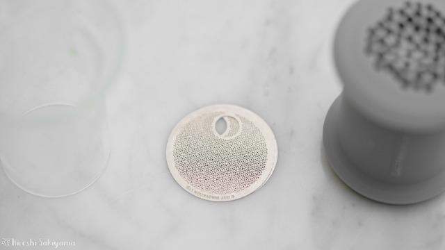 Simple Lab Experience KUNG-FU tea set on-goのフィルター、2枚を少しずらした