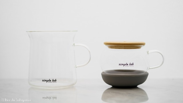【Simple Lab Experience】AIRO. air-lock easy brewing tea set【MAGIC BREW】の急須とマグカップ