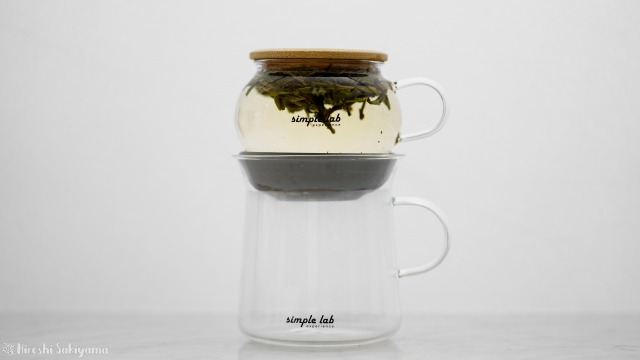 【Simple Lab Experience】AIRO. air-lock easy brewing tea set【MAGIC BREW】で抽出中