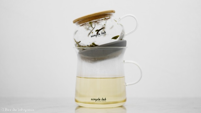 【Simple Lab Experience】AIRO. air-lock easy brewing tea set【MAGIC BREW】で下にお茶が落ちきった