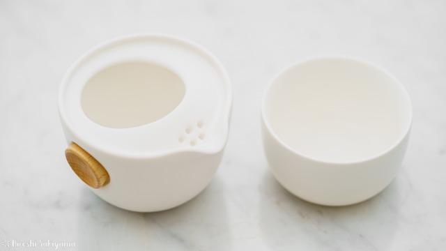 宜龍 Eilong 中国茶テイスティングセットの茶壺と茶杯