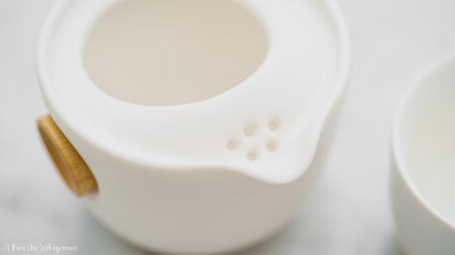 宜龍 Eilong 中国茶テイスティングセットの茶壺の茶こし部分
