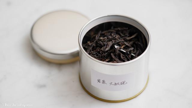 中国茶を入れたマキノ 紅茶缶