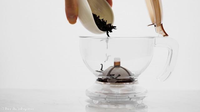 CASUAL PRODUCT パーフェクト C&T ブリューワー ラウンドに茶葉をいれる
