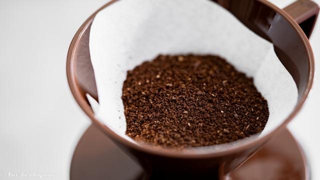 珈琲工房リバティ、挽いたコーヒー豆